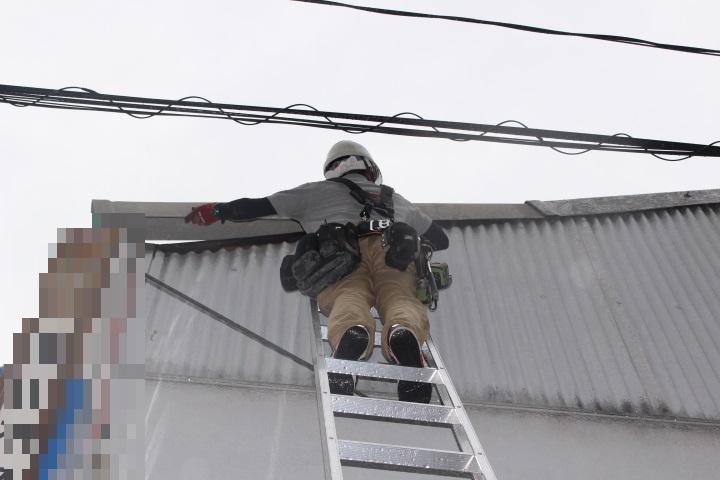 スレート屋根ケラバ修理3
