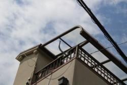 ベランダ屋根ポリカ板交換1