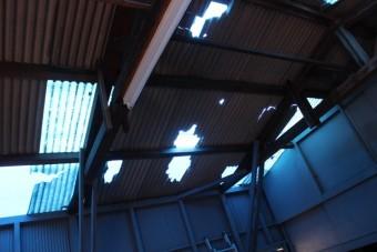 ガレージ屋根修理4