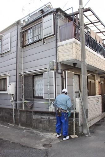 屋根修理足場設置3