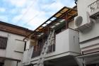 木製テラス波板修理1