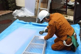 木製テラス波板修理4