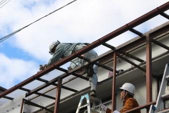 木製テラス波板修理6