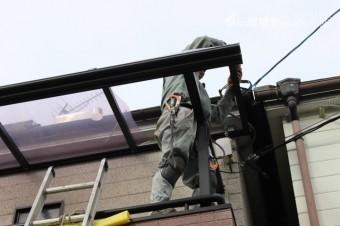 西宮市テラス屋根修理5