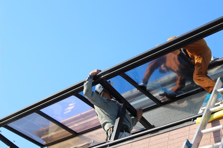 西宮市テラス屋根修理4