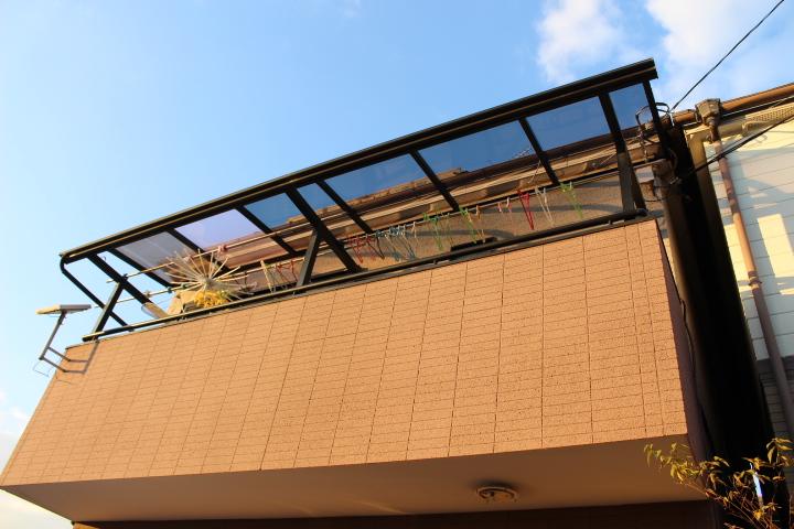 西宮市テラス屋根修理7