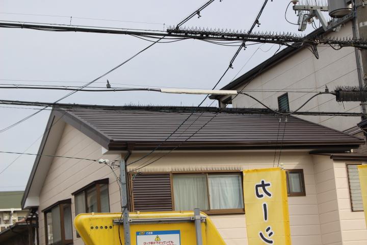 屋根カバー工事施工後