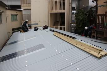ガレージ屋根修理7