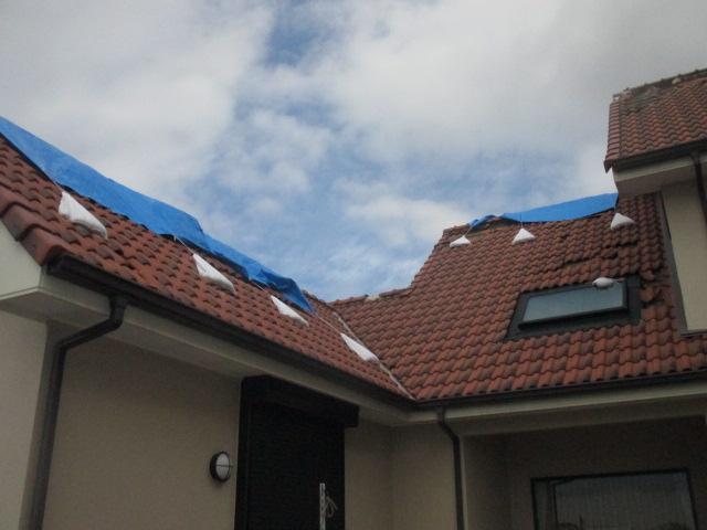 台風被害 瓦屋根