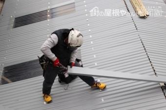 ガレージ屋根修理