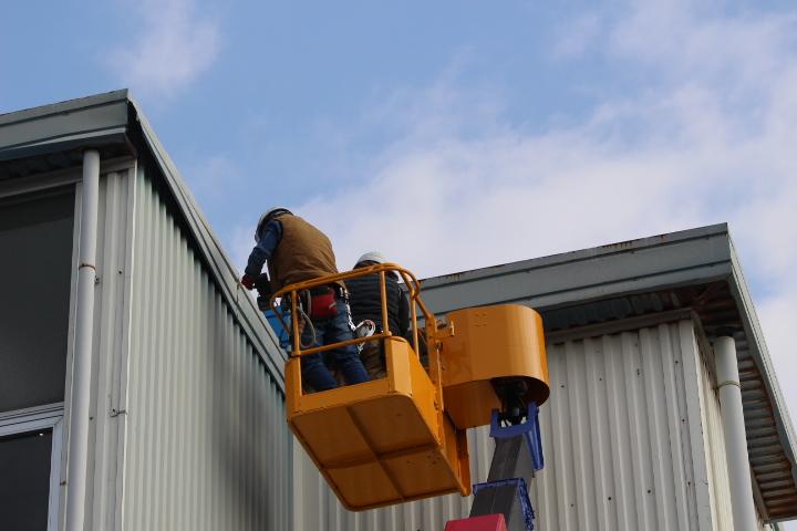 西宮市工場屋根修理5