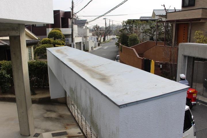 ガレージ屋根葺替え1
