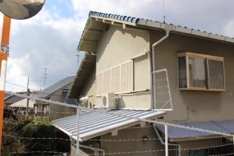 下屋根修理1