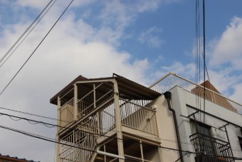 屋上防水&雨樋修理1