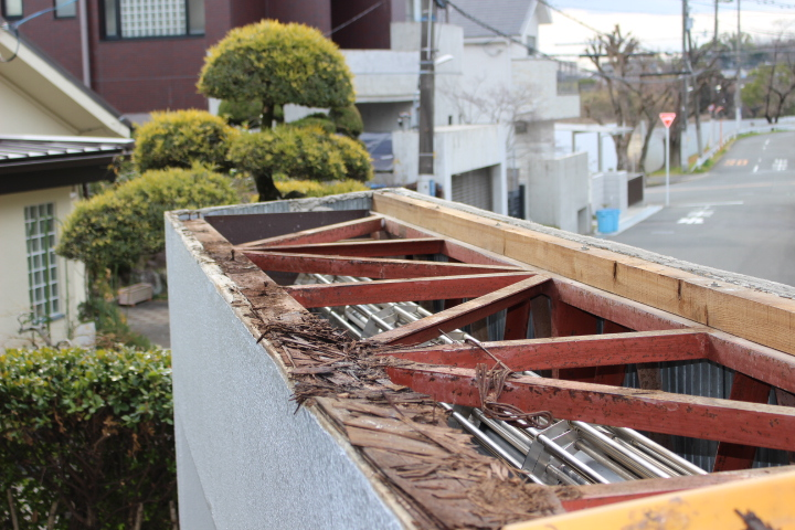 ガレージ屋根葺替え6