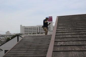 屋根カバー工事下見1