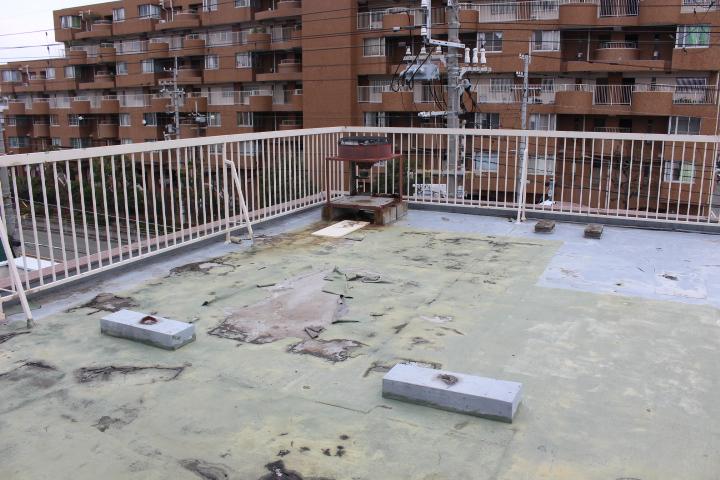 屋上防水&雨樋修理4