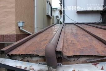 屋根軒天修理下見4