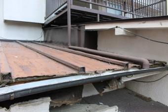 屋根軒天修理下見3