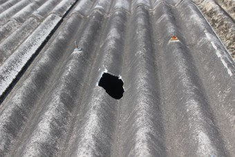 スレート屋根雨漏り3