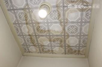 雨漏り天井修理1