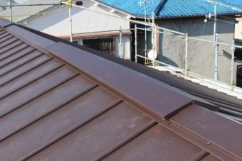 伊丹市屋根材張り作業8