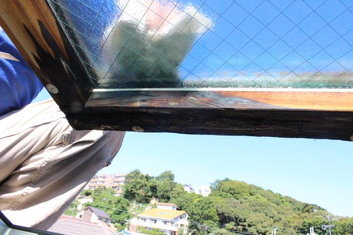 天窓雨漏り修理2