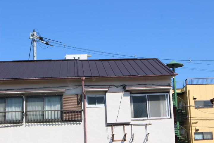 伊丹市屋根材張り作業10