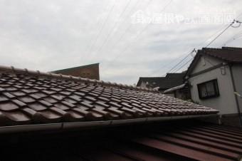 屋根瓦落下4