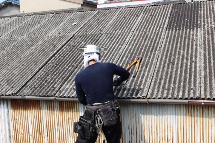 スレート波板屋根修理2