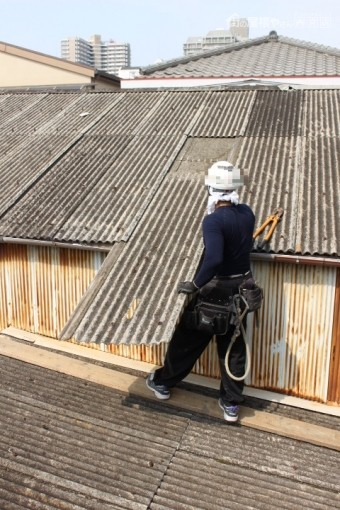 スレート波板屋根修理5