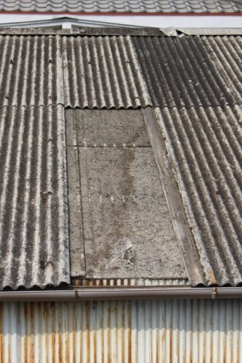 スレート波板屋根修理6