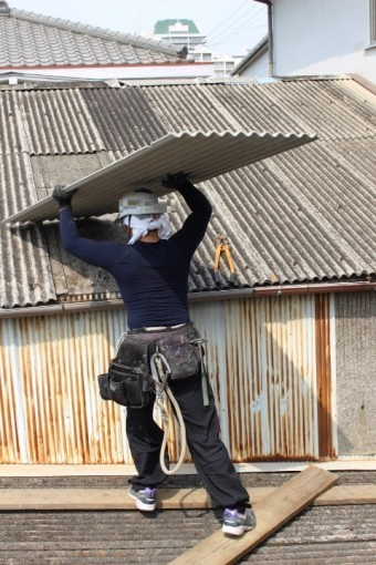 スレート波板屋根修理7