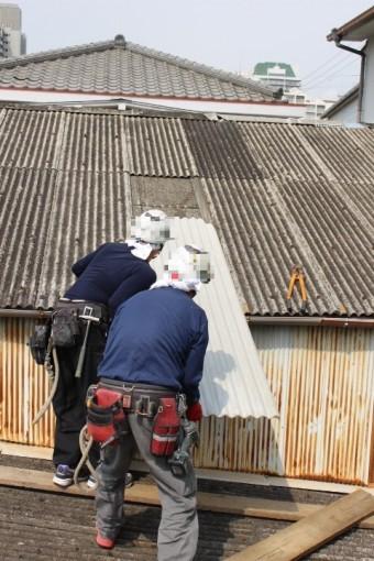 スレート波板屋根修理8
