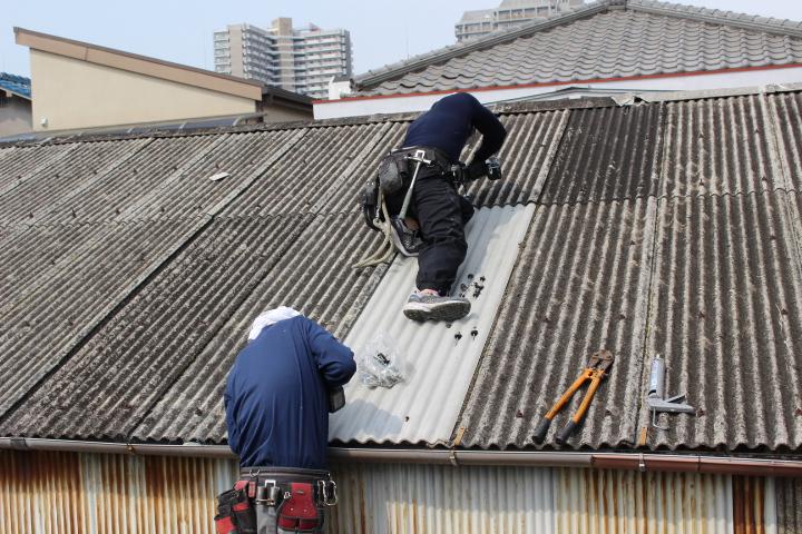 スレート波板屋根修理9