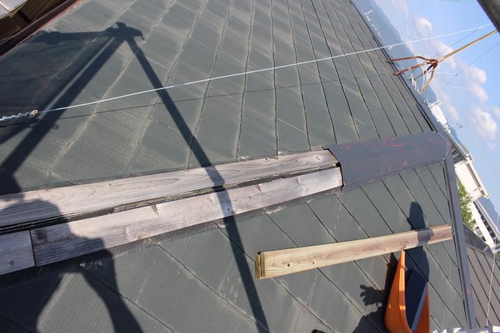 尼崎市屋根棟包み修理2