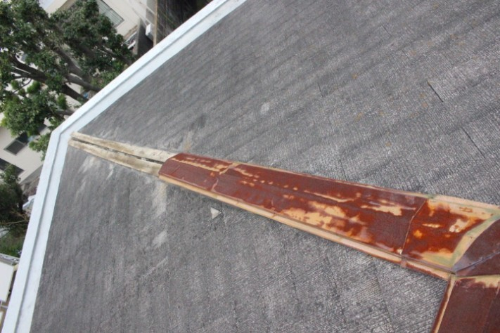 屋根棟包み修理1