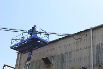 尼崎市工場雨樋修理5