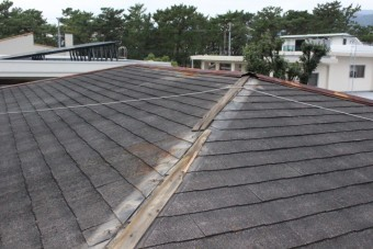 屋根棟包み修理2