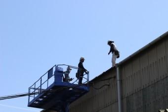 尼崎市工場雨樋修理8