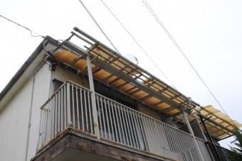 木製テラス屋根修理1