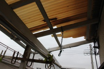 木製テラス修理3