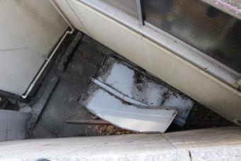 下屋根瓦棒修理2