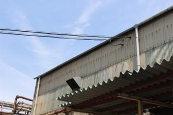 尼崎市工場雨樋修理11