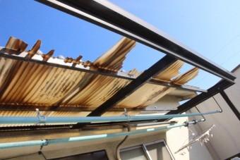 下屋根瓦棒修理4