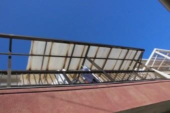 テラス屋根波板修理2