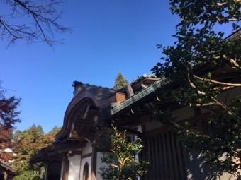 銅板の屋根 大原三千院