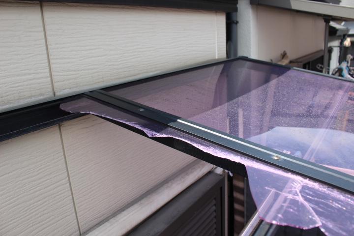 テラス屋根修理現場調査4