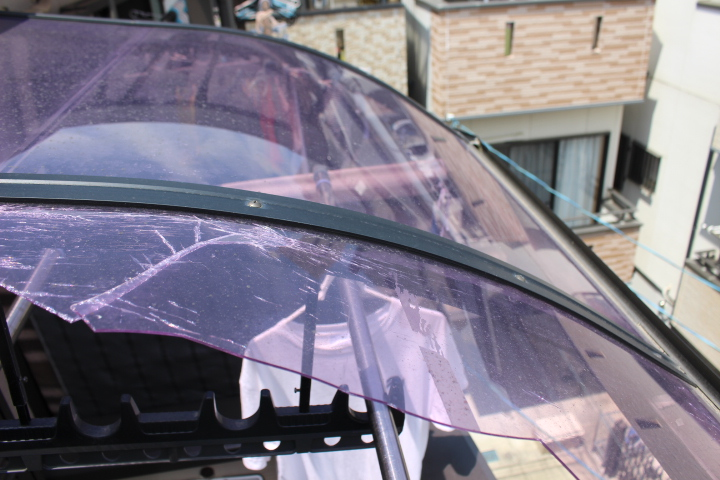 テラス屋根修理現場調査1