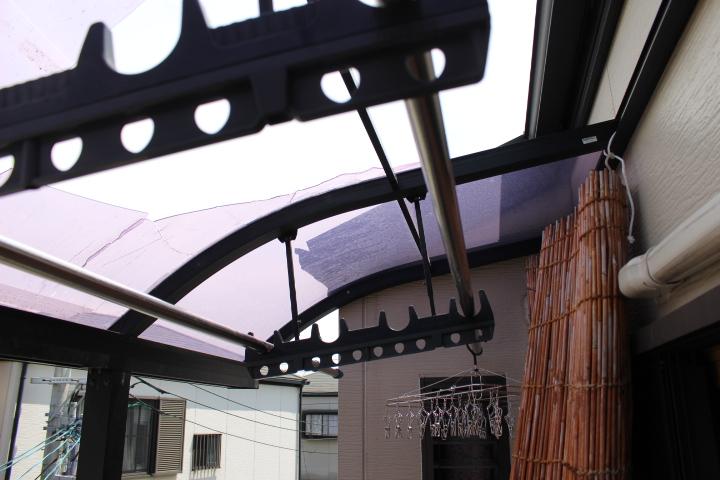テラス屋根修理現場調査6